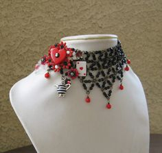 My friend Jeanie.   Love it.  Queen of Hearts  Alice in Wonderland inspired by JeanieSchlegel, $125.00