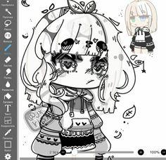 Cartoon Girl Drawing, Anime Girl Drawings, Cartoon Art, Cute Drawings, Cute Anime Chibi, Kawaii Anime Girl, Youtube Channel Art, Anime Base, Anime Furry
