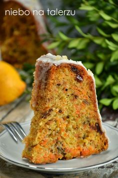 babka marchewkowa Easter Recipes, Dessert Recipes, Desserts, Cooking Recipes, Healthy Recipes, Sweets Cake, Loaf Cake, Polish Recipes, Bread Baking