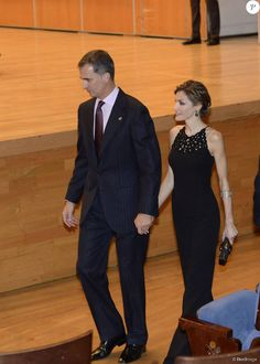 King Felipe and Queen Letizia attended the 'XXIV Musical Week' closing concert at the Principe Felipe Auditorium during the 'Princess of Asturias 2015 Awards on October 22, 2015 in Oviedo, Spain.