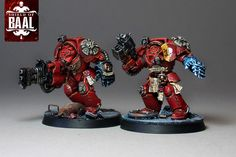 Brothers Bartelo and Aphrae of Alphaeus squad, Blood Angels Terminators from Deathstorm box set.