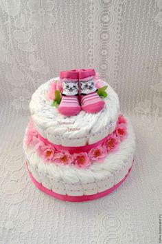 """Подарки для новорожденных, ручной работы. Ярмарка Мастеров - ручная работа. Купить Торт из памперсов """"Котенок"""". Handmade. Торт из памперсов, подгузники"""