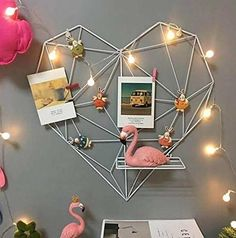 Framed Postcards, Postcard Wall, Photo Shelf, Iron Storage, Storage Racks, Wall Hanging Shelves, Photo Wall Hanging, Cute Room Decor, Diy Décoration