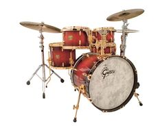 My almost-dream drum kit -- add 2 more drums and 4 more cymbals.