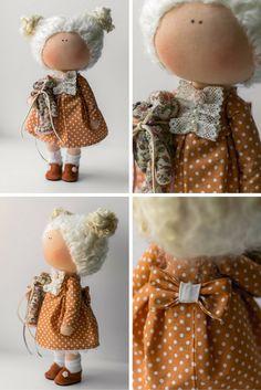 Handmade doll Tilda doll Interior doll Art by AnnKirillartPlace