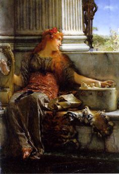 Poetry (1879). Sir Lawrence Alma-Tadema (Dutch, 1836-1912). Oil on panel…