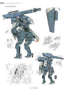 View an image titled 'Sahelanthropus Art' in our Metal Gear Solid V art gallery featuring official character designs, concept art, and promo pictures. Robot Concept Art, Weapon Concept Art, Character Concept, Character Design, Gundam, Science Fiction, Arte Robot, Gear Art, Cool Robots