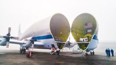 February 01 2016 : Super Guppy Ready to Transport the Orion Spacecraft NASA's Super Guppy aircraft readies to transport an Orion spacecraft from the Michoud Assembly Facility in Louisiana to Kennedy Space Center in Florida.