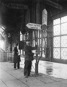 ca 1910 Schlesischer Bahnhof Bahnsteig