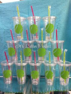 Cute tennis cups- I want to make for my team!