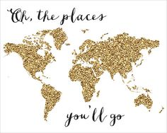 Oh The Places You'll Go Printable INSTANT DOWNLOAD by CraftMei
