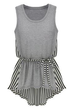 Anomalous Lower Hem Grey Vest $29.99 #fashion #clothing
