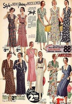 1930's Fashion Dresses #1930sfashion #1930sdresses