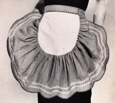 Two Vintage PDF Sewing Patterns Half Party Apron Home Decor Sheer or Gingham Reproduction Instant Download