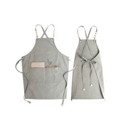 Restaurant Aprons Gifts,Canvas Personalized Apron Gift With Pockets For Him/Her, Chefs, Artists, Florist Cafe Apron, Shop Apron, Restaurant Aprons, Cool Aprons, Custom Aprons, Personalized Aprons, Grey Fabric, Three Dimensional, Canvas Size