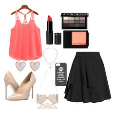 """""""You're Mine. (clubbing)"""" by hazel-desire ❤ liked on Polyvore featuring Alexander McQueen, Massimo Matteo, New Look, Bobbi Brown Cosmetics, Maybelline, River Island and Michael Kors"""