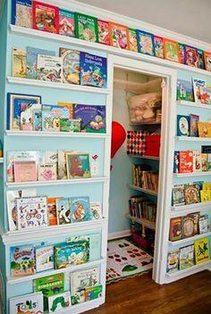 Closet Reading Nook/Library wall