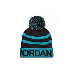 AIR JORDAN Jordan Go 23 Pom Beanie Gamma Blue ❤ liked on Polyvore featuring  accessories 75c6f25da6