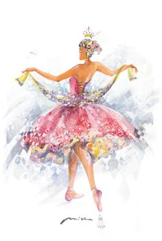 Ballerina Clipart: The Lightness and the Royal Beauty of Ballet Dancers in The Collection of Paintings and Illustrations of Ballerinas. Ballerina Art, Ballet Art, Ballet Dancers, Ballerinas, Sleeping Beauty Ballet, Ballet Beautiful, Ballet Costumes, Dance Art, Illustrations