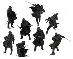 """Corvo Unmasked in Early Concept Art. """" Wes Burt's concept art for Arkane Studios' Dishonored suggests Corvo may have had some face time in the game's early development stages. Nowadays silent protagonists in. Character Poses, Character Design References, Character Concept, Character Art, Concept Art, Wie Zeichnet Man Manga, Arte Dark Souls, Arte Ninja, Fighting Poses"""
