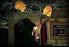 Renaissance Faire Fire Dancer