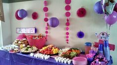 Hallie's Hot Dogs, Chilly's Chilled Fruit & Docs Delicious Dippers all part of the menu at Chloe's Doc McStuffins party!