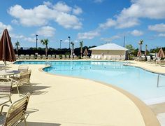 Swimming pool and clubhouse at Rivermist in Southport, North Carolina