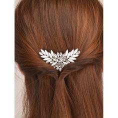 Haarkamm, klassisch aber fesch -- Enamel Rhinestone Floral Hair Comb