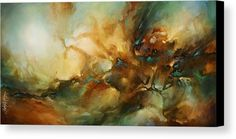Abstract Canvas Print featuring the painting ' Breach ' by Michael Lang