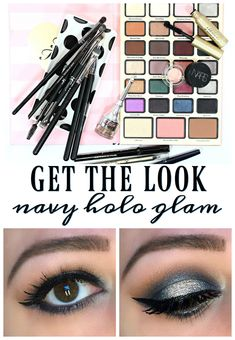 Get the look! A navy halo eye look that makes perfect makeup for holiday parties, prom or a night out. Featuring the Too Faced Boss Lady Agenda! Makeup Eye Looks, Blue Eye Makeup, Eye Makeup Tips, Smokey Eye Makeup, Makeup Ideas, Makeup Tutorials, Drugstore Makeup, Makeup Products, Beauty Products