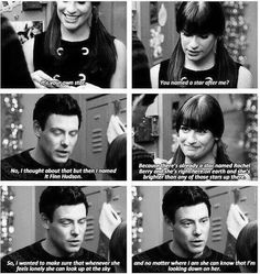 There's a star named Finn Hudson and now there's an angel named Cory Monteith both of them looking down on Lea Michele
