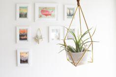 Himmeli fig. 4 The Planter Hanging Brass Air by handmadesammade