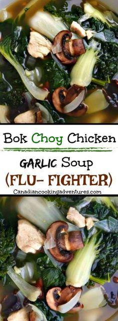 26055590_409065566203072_1713976497103263322_n Bok Choy Chicken Garlic (Flu-Fighter) Soup