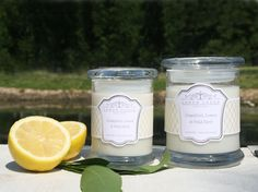 Grapefruit, Lemon & Wild Herb Cleansing & Energising. New collection from www.lowerlodgecandles.com launching August 2013