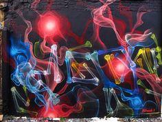 « X-ray studies« , les expérimentations de street art aux rayons X de l'artiste SHOK-1.