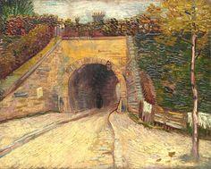 Vincent van Gogh Roadway with Underpass (Le viaduc) 1887