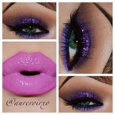 Velvet Glitter Eye Makeup idea