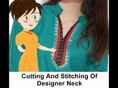Cutting And Stitching Of Designer Neck Part 1 - Tailoring With Usha - YouTube