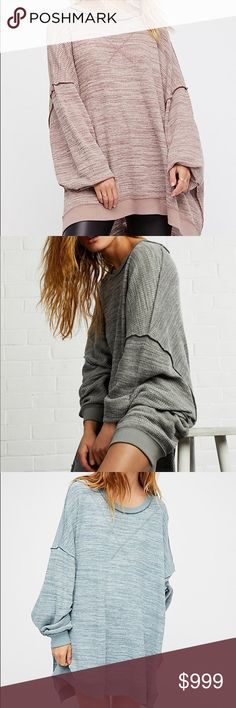 ISO Free People So Fresh Thermal Tee I'm looking for any color of the So Fresh thermal oversized tee in a size extra small (xsmall/XS) and I'm looking to pay around $50-$80   I am NOT selling this product! Free People Tops