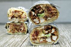 Burrito ze stripsami z kurczaka, sosem serowym i majonezem wasabi - Stonerchef Burritos, Cheddar, Tacos, Mexican, Ethnic Recipes, Imperium, Food, Cooking, Breakfast Burritos