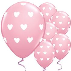Big Pink Hearts Valentines Balloons - 11