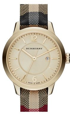 gorgeous striped Burberry watch