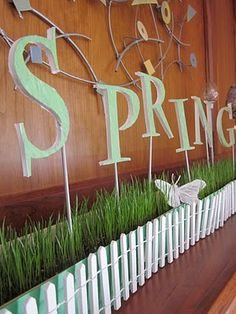 Decorating ideas on pinterest cash wrap window displays - Window decorations for spring ...