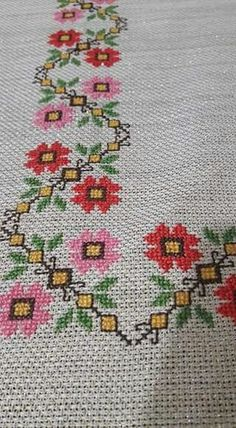 The most beautiful cross-stitch pattern - Knitting, Crochet Love Cross Stitch Letters, Cross Stitch Borders, Cross Stitch Samplers, Modern Cross Stitch, Cross Stitch Flowers, Cross Stitch Designs, Cross Stitching, Cross Stitch Embroidery, Hand Embroidery