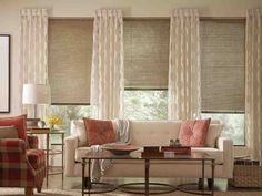 Bamboo Blinds with Curtains
