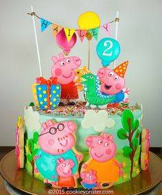 Peppa Pig and family cake | by Cookievonster