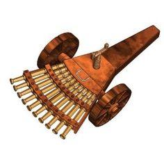 Elenco Leonardo Da Vinci Multi-Barreled Cannon *** Click image for more details.