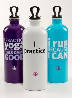 WATER BOTTLE: LULULEMON  Hydrate in style with these adorable eco-chic water bottles by Lululemon.