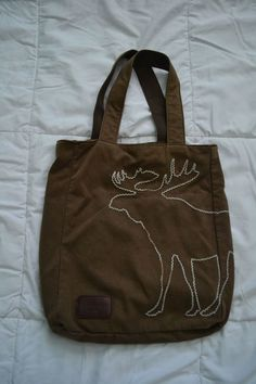 Abercrombie & Fitch Brown Cotton Classic Moose Logo Tote Bag  #AbercrombieFitch #TotesShoppers Chocolate Moose, Hobo Handbags, Fun Ideas, Travel Bags, Abercrombie Fitch, Sewing Projects, Great Gifts, Reusable Tote Bags, Cute Outfits