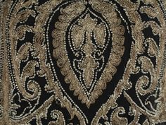 1920s embroidery detail of Cornely machine embroidery with some beadwork.